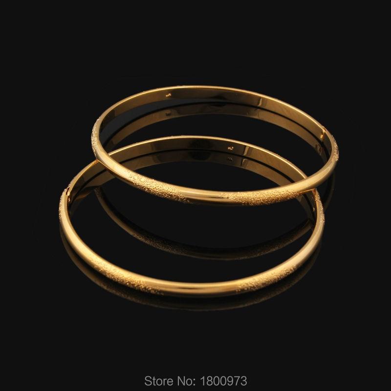 Pulsera clásica rellena de oro para mujer, pulsera fina de diámetro interior, joyería, envío gratis