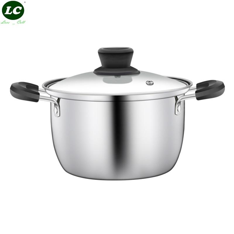 طاجن الطبخ وعاء الفولاذ المقاوم للصدأ أواني المطبخ تجهيزات المطابخ اينوكس الحساء اوعية الطبخ الكبيرة