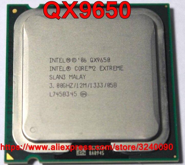 Original CPU Intel CORE 2 Extreme QX9650 procesador 3,00 GHz/12 M/1333 MHz Quad-Core Socket 775 envío gratis rápido envío