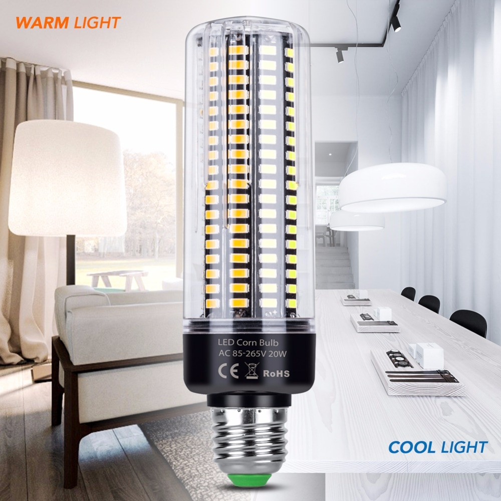 Bombillas Led E14 220V Led Bombilla de maíz E27 Led IC inteligente lámpara SMD 5736 bombilla de bajo consumo 28 40 72 108, 132, 156, 189leds 110V