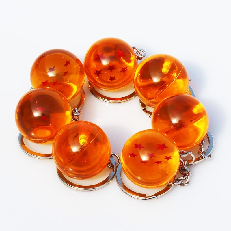 Шарики из ПВХ с брелком, 7 шт./лот, Dragon Ball Z, 1, 2, 3, 4, 5, 6, 7 звезд, 2,5 см