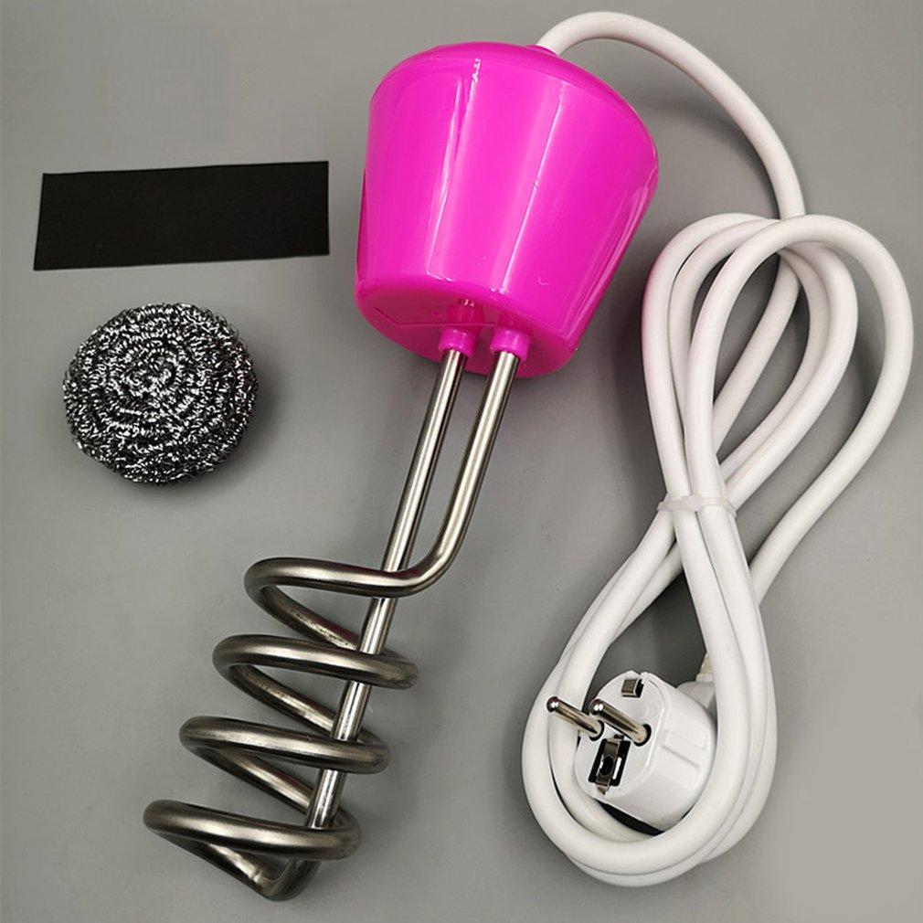 Calentador de agua de 2500 W, elemento calentador de agua, bañera, suspensión portátil, inmersión eléctrica para bañera inflable, viaje, Camping, piscina