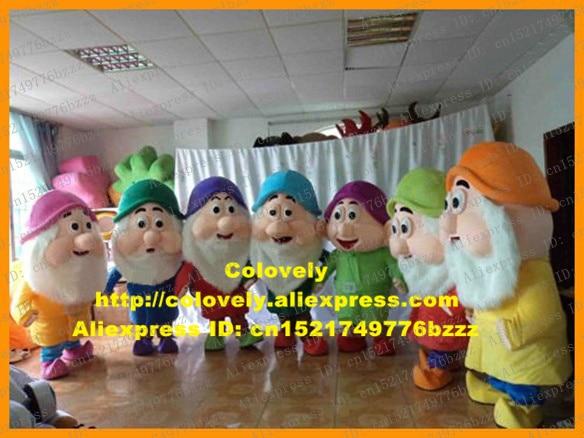Traje de mascota Blanca Nieves Nanus Midget Sieben Zwerge con nariz de globo grande n. ° 6615 FS