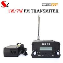 CZE-7C 7W stereo PLL FM transmitter broadcast radio station +PS Ant kit