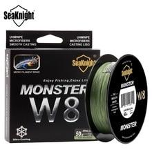 Monster w8 multicolore 8 brins pêche tresse ligne 500 m grand angle technologie pe lignes pour pêche en mer ligne de pêche 20-100lb