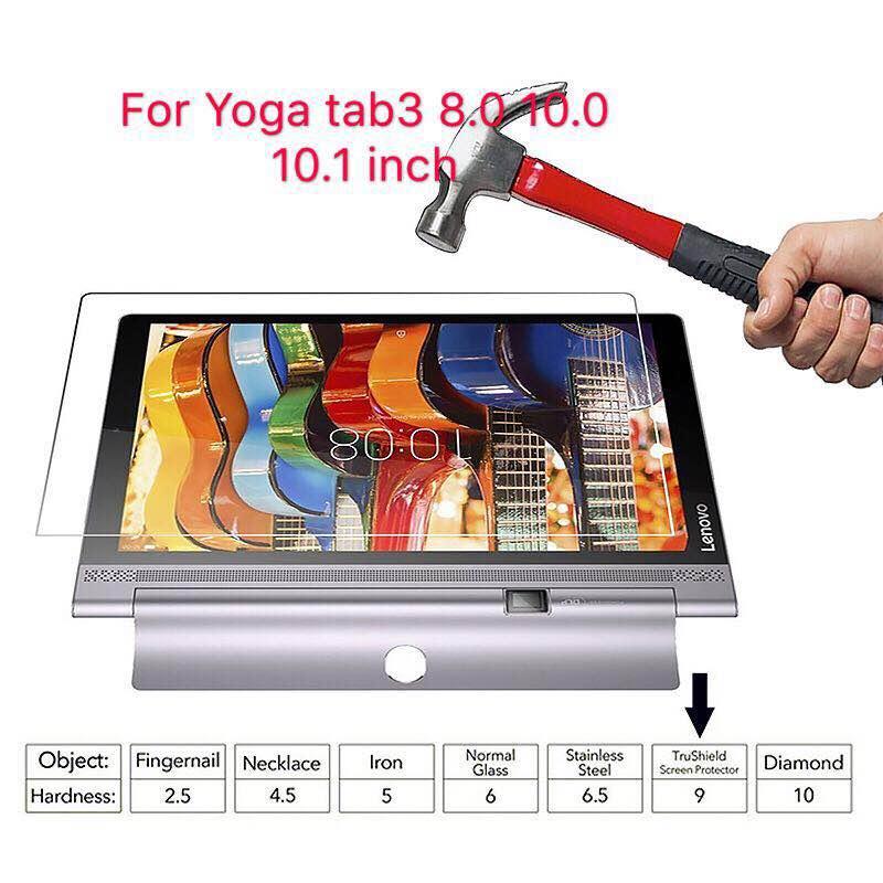 Guia Yoga 3 3 8.0 850F Vidro Temperado Para Guia Lenovo Yoga 850 m 850L YT3 X50F X50M Plus Pro x90 X90F Tablet Filme Protetor de Tela