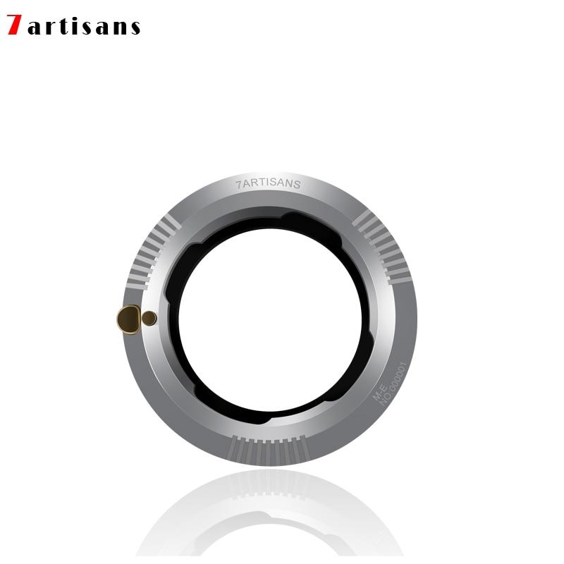 7 artisans Adapter Ring for LM Mount Lens for  E Mount A7III A9 A7R2 A6000 A3000 NEX-7 6 5 3 5N 3VG10E VG20E Camcorders