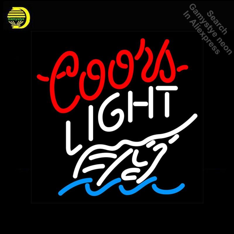 Neon Sign for Coors Light Swordfish Neon Bulb sign handcraft neon signboard Decorate Hotel wall neon wall lights anuncio luminos