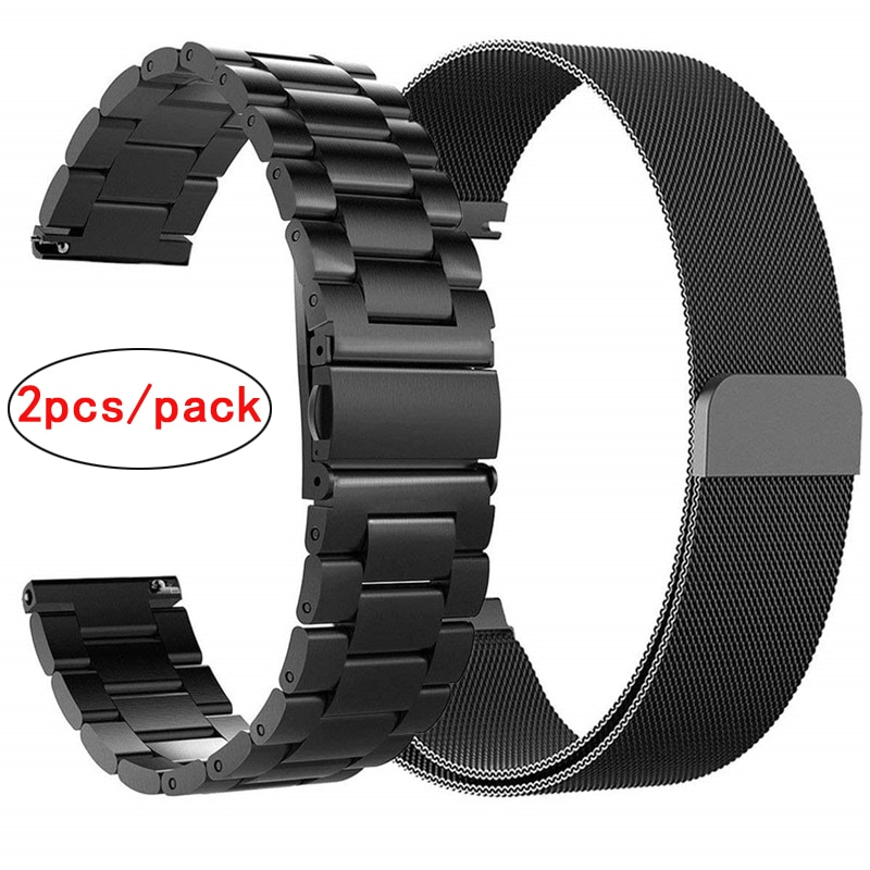 Correa de reloj de acero inoxidable 20mm 22mm para Samsung Galaxy watch 42mm correa de reloj correa de lazo milanés para Galaxy Watch 46mm/Gear S3