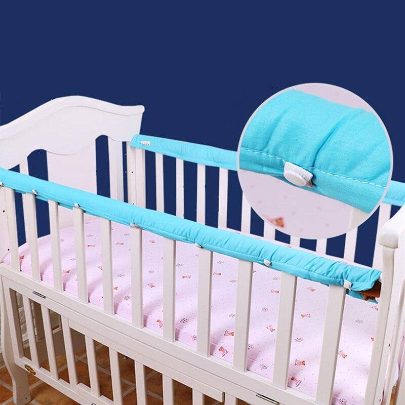 Хлопковые плотные детские кроватки кровать Guardrails' протектор 1 пара кроватки бампер полоски для новорожденных защиты б