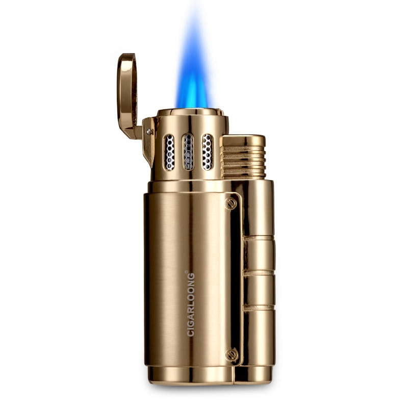 Cigar lighter men's sound flip clamshell windproof creative personality straight into the lighter LL