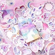 Pegatinas decorativas de papelería para álbum de recortes, etiqueta de palo de dibujos animados Diy, 46 unids/paquete
