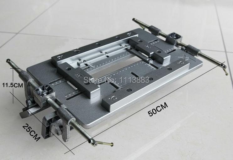 Adjustable Door Hinge Aluminium Template Jig, Slotting Template for Router