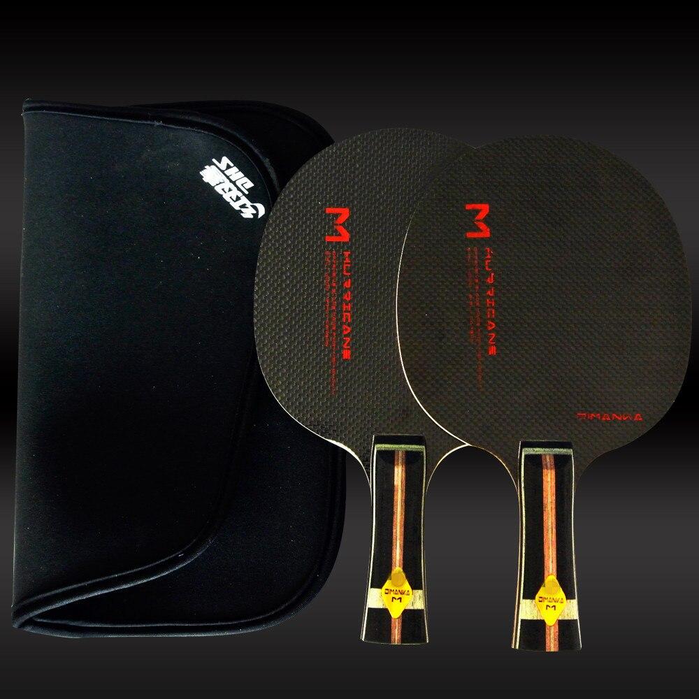 XVT M carbono completo/hoja de tenis de mesa de carbono completo/raqueta de tenis de mesa Pingpong enviar DHS funda