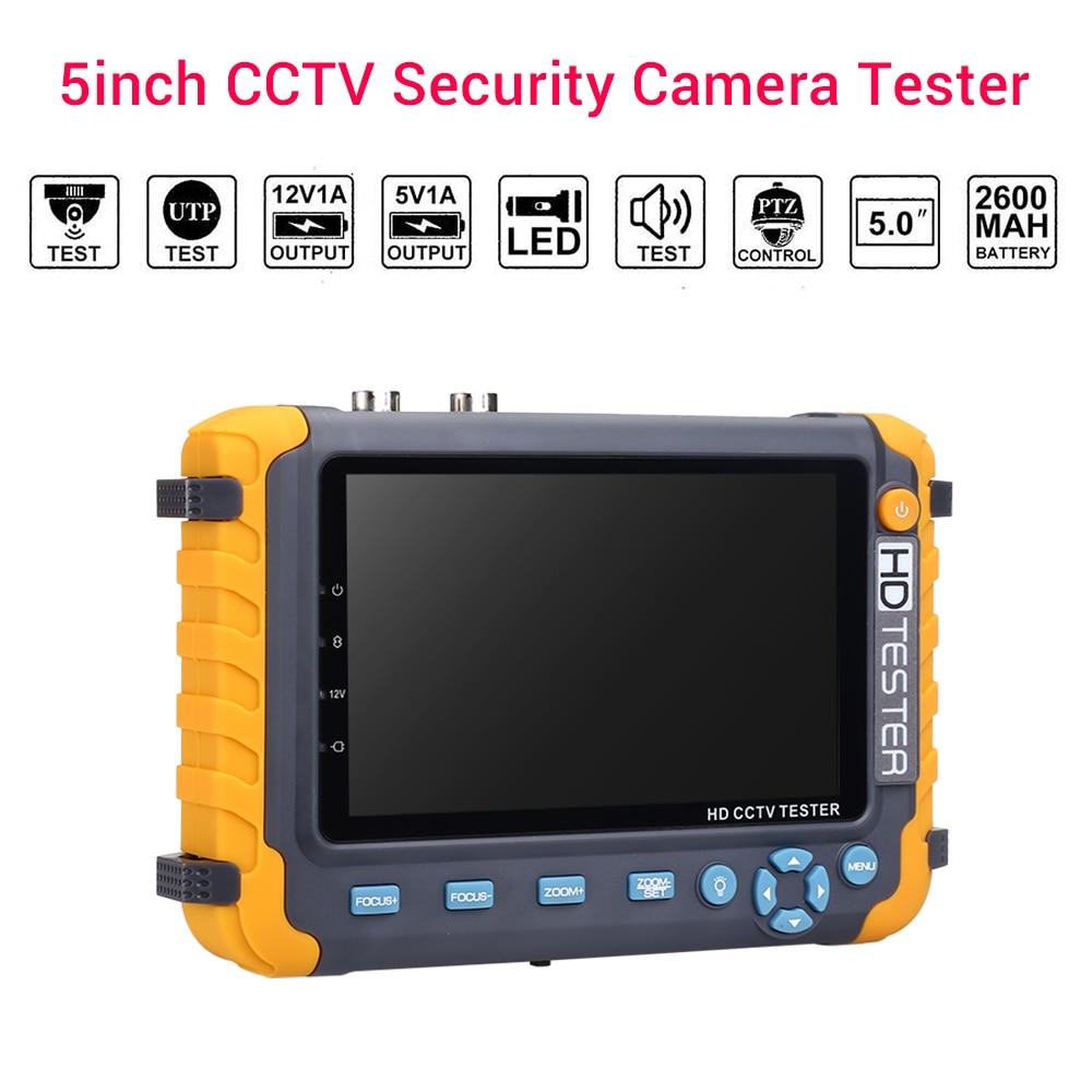 Tela cctv 1080 P hdmi tester 5MP 5 polegada Monitor Tester CCTV bnc vga cable tester Tester Câmera de Segurança Suporte CAM