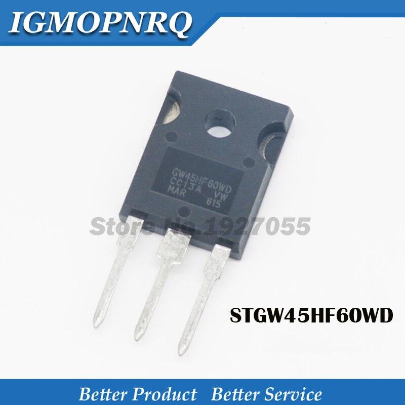 5 uds STGW45HF60WD-247 GW45HF60WD TO-3P STGW45HF60 45HF60 600V 45A nuevo original