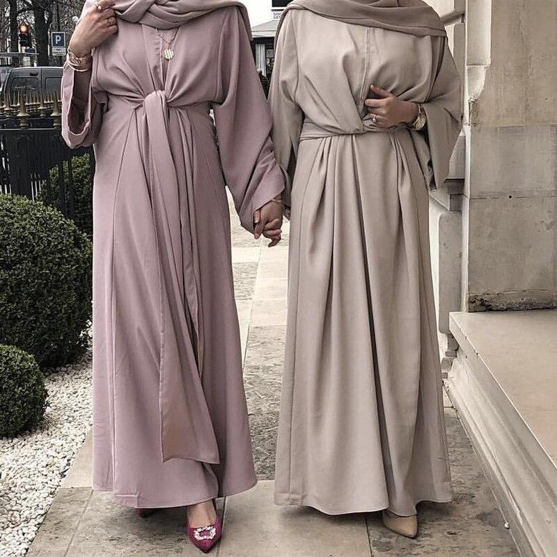 ضمادة عباية دبي تركيا فستان مسلم قفطان عبايات للنساء رمضان رداء قفطان ماروكين ملابس أمريكية تركية إسلامية
