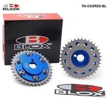 Blox 블루 조정 가능한 캠 기어 타이밍 기어 풀리 키트 2Pcs Nissian S14 SR20DE / T 배기 엔진 TK-CGSR20-BL