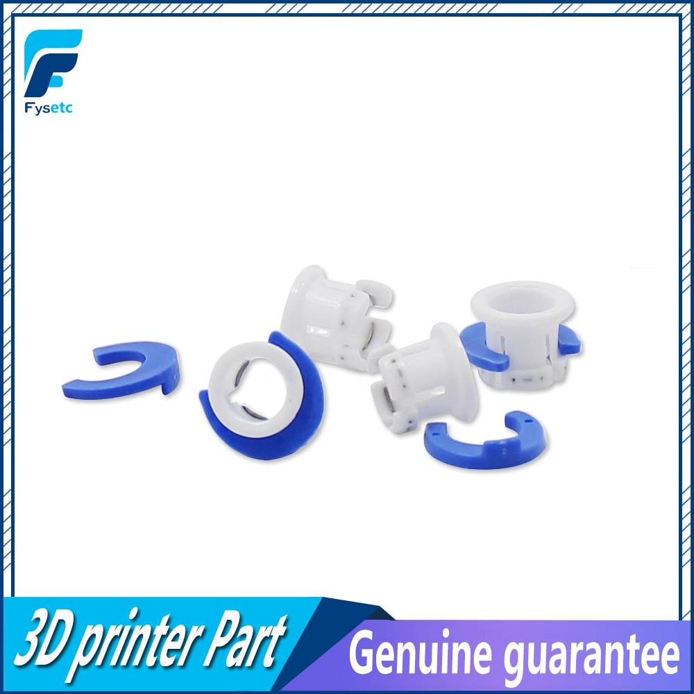 10 blanco Bowden abrazadera de tubo azul caballo clip de fijación 6mm para Ultimaker 3D piezas de impresoras de collar de acoplamiento parte accesorio