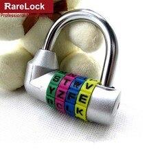LHX serrure à mot de passe en alliage de Zinc   5 couleurs, combinaison de Code lettre, valises de porte en boîte, sac de voyage, serrures de vestiaire a