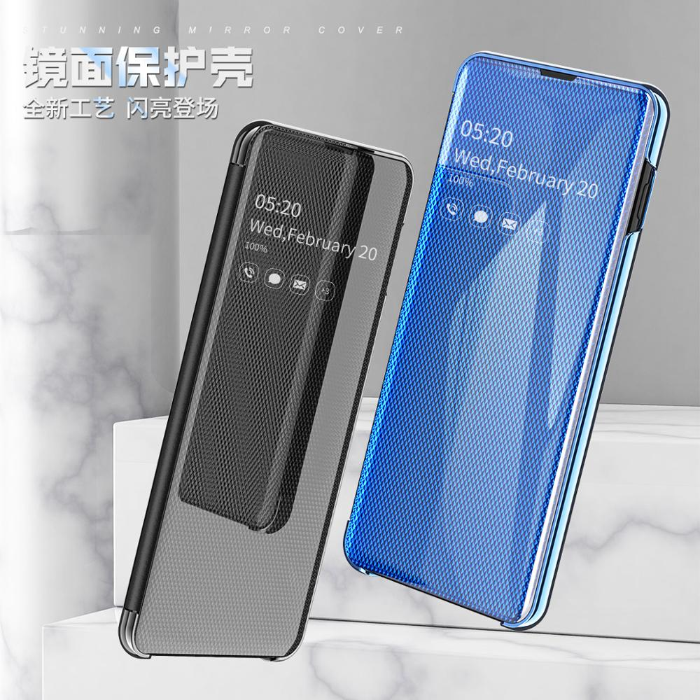 Espejo inteligente del teléfono Flip funda para Samsung Galaxy S9 S10 S8 más S10E A30 A50 A70 A750 funda para Galaxy Nota 10 9 8 Pro