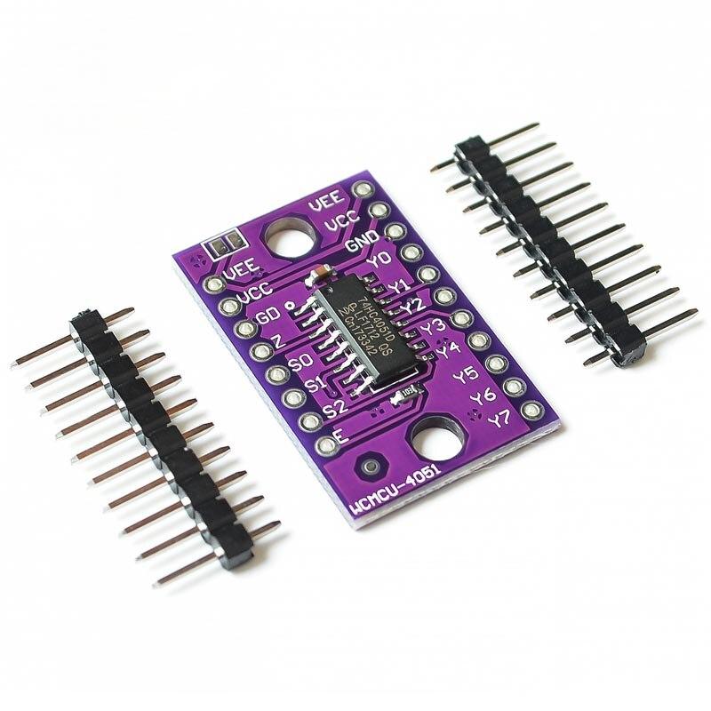 74HC4051 8-Canal-Mux CJMCU-4051 8-multiplexor analógico para Canal módulo