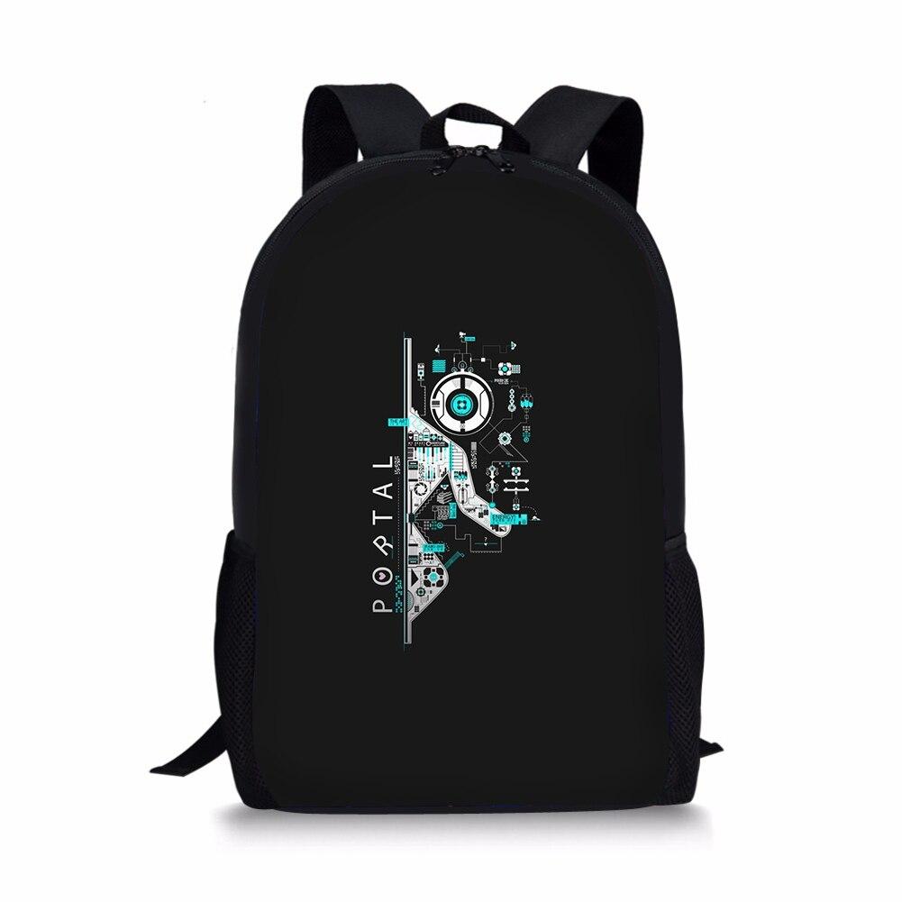 THIKIN portail 2 impression enfants sac à dos pour filles garçons Cool jeu Bookbag mode personnalisé adolescents cartable conception Mochila
