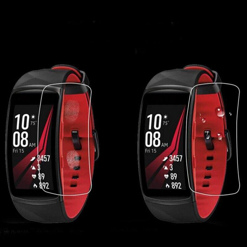 2 protectores de pantalla completa para Samsung Gear Fit 2 Pro Fit2 Pro, TPU blando, Ultra HD, película protectora antigolpes transparente