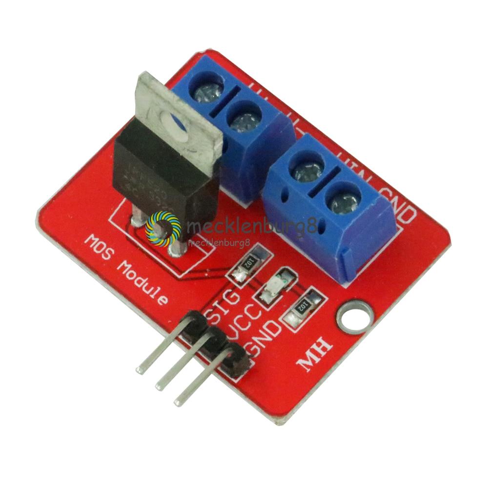 Top Mosfet IRF520 botón módulo Mosfet 3,3 V-5V potencia para Arduino MCU brazo para Raspberry Pi MOS PWM atenuación LED más vendido
