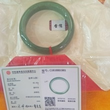Un certificat de naturel myanmar pur vert bracelet élégant dame jade bijoux cadeaux