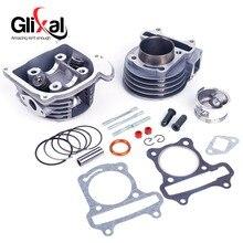 Glixal GY6 Kit de reconstruction de Scooter   Kit de cylindre grand alésage avec tête de cylindre Assy 139QMB 1P39QMB ATV Go Kart UTV