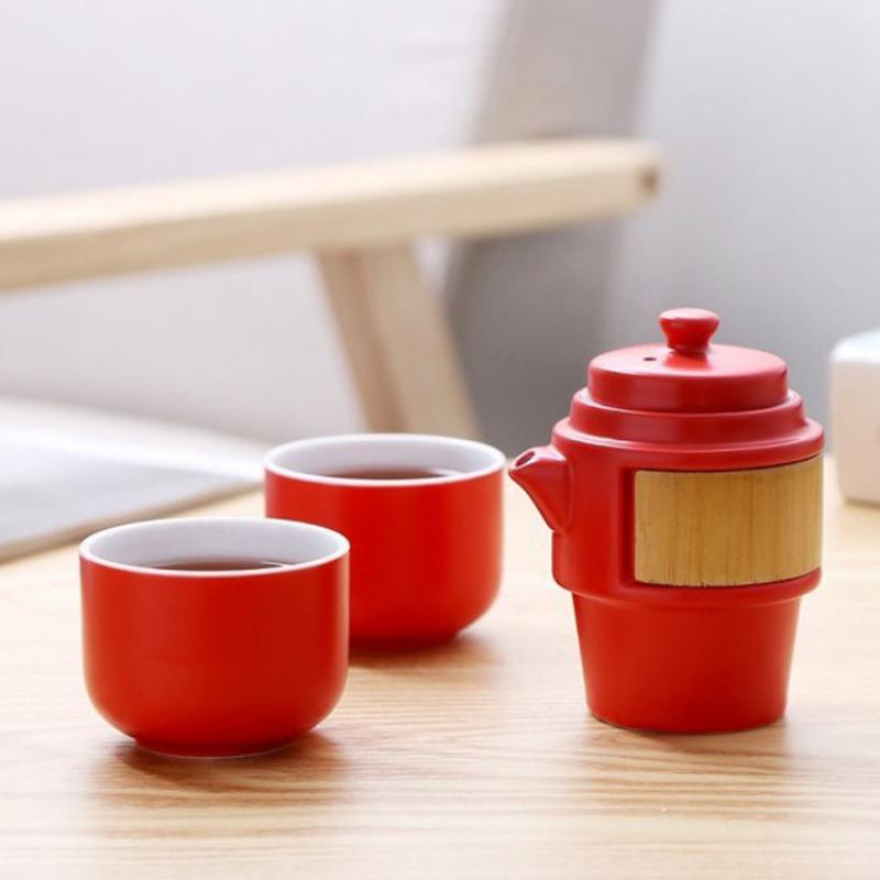 طقم شاي للسفر موضة للجنسين أبيض خزف أسود مجموعة براريد للشاي الصيني طقم شاي الكونغ فو الرجال النساء مكتب بعد الظهر الشاي درينكوير