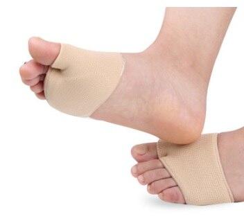 Bola de pé gel manga dolorosa metatarsal cabeças morton neuromas atrofia almofada plana splay pé alívio da pressão calos pés cuidados