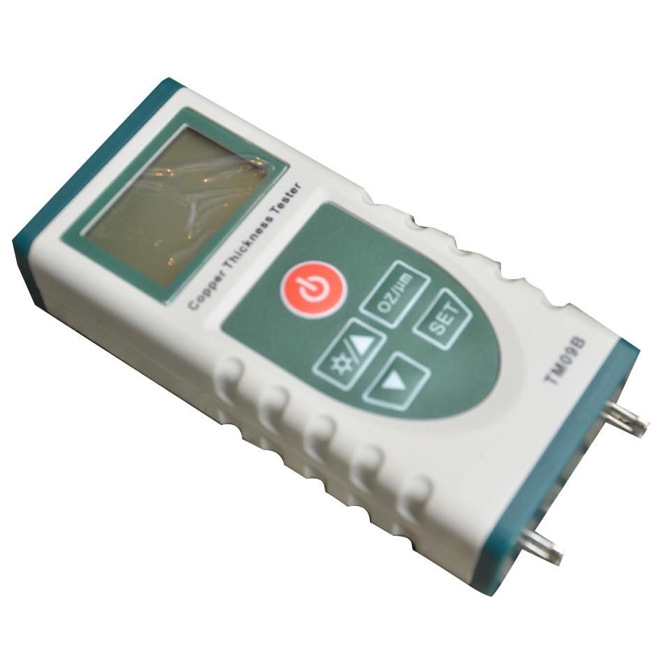 TM09B medidor probador de espesor de papel de cobre Digital de alta precisión para PCB revestimiento de cobre LCD de luz trasera 0-5,0 OZ