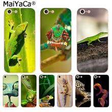 MaiYaCa الحيوان أبو بريص في الغابات الخضراء سحلية الأزياء الهاتف حالة ل فون 11 برو 8 7 66S زائد X 10 5S SE XR XS XS ماكس غطاء