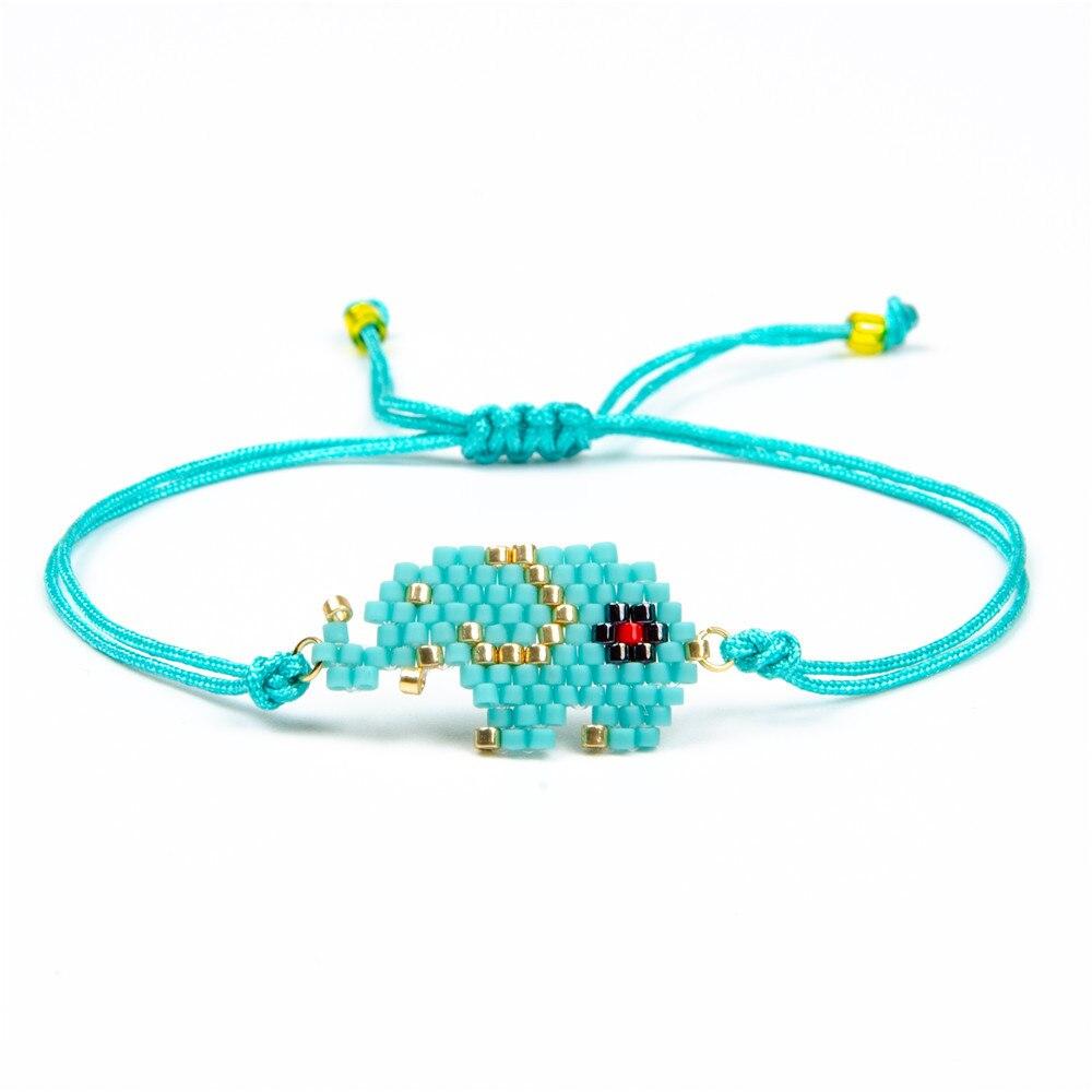 2019 nuevas Pulseras tejidas a mano, pulsera de caricatura de cuerda de amistad, Pulseras simples de 3 colores para Mujer, regalo de joyería de Moda para Mujer