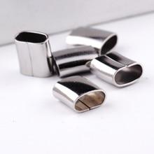 Reidgaller 20 piezas deslizadores de Cuero de regaliz plana espaciadores de acero inoxidable joyería conector encantos diy suministros para hacer pulseras