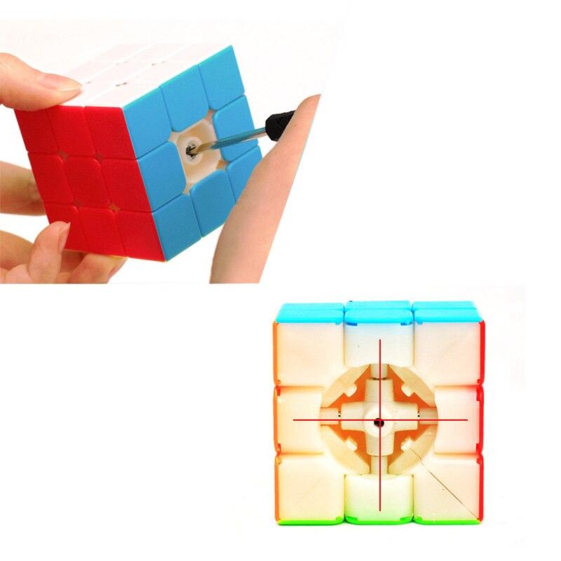 D-fantix ZCUBE 3x3 Cubo de velocidad sin pegatinas cubo mágico rompecabezas juguetes 56,5mm