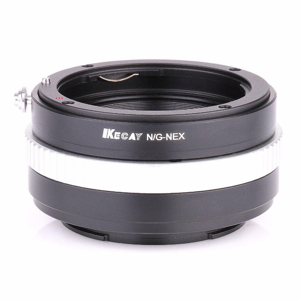 Cámara de anillo adaptador de metal N/G-NEX anillo adaptador de lente de montaje con soporte de metal/AV/m para NEX-7 NEX-6L NEX-5T NEX-5N NEX-5 Cámara 4