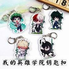 Anime My Hero Academia Key Chain Izuku Midoriya Katsuki Metal Boku No Hero Academia Pendants Keychain Keyrings Jewelry Gift