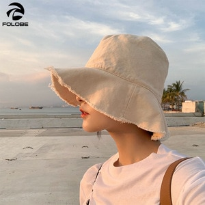 Bucket Hat Men Women Summer Bucket Cap Solid Print Yellow Hat Bob Hat Hip Hip Gorros Fishing Fisherman Hat with Tassel