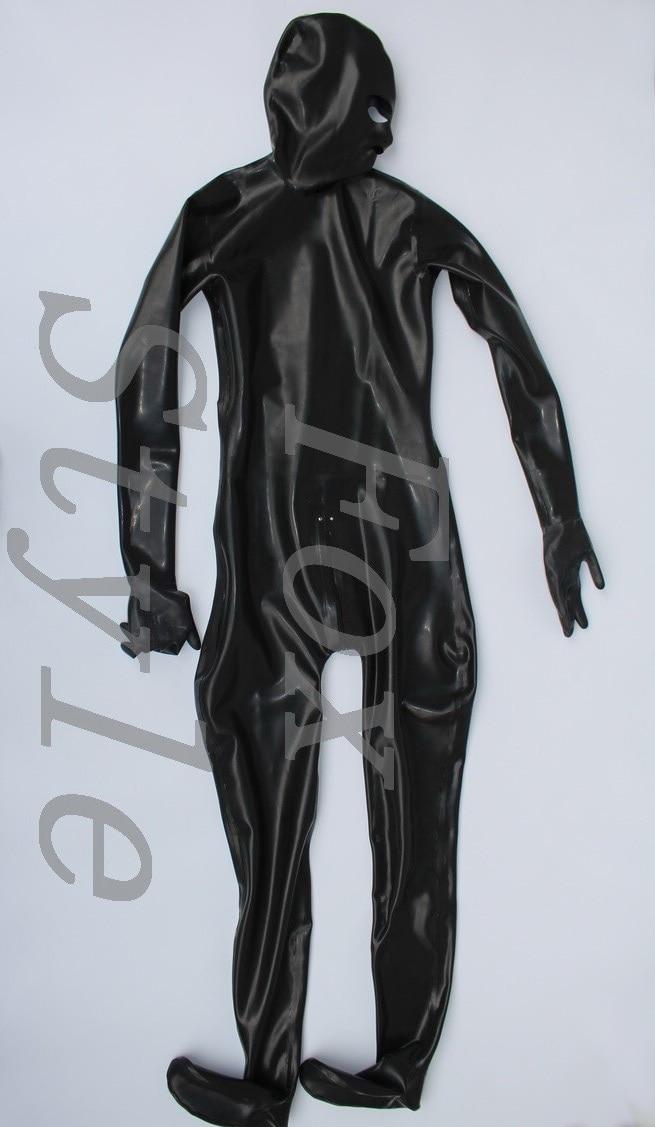 Latex full bodysuit close-fitting Jumpsuits catsuit