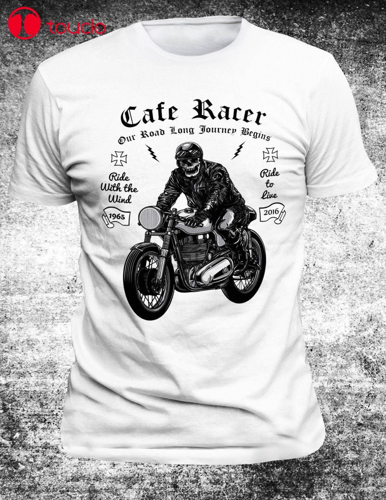 2019 nuevo Cool camiseta Alemania Cafer cráneo de Racer Motorcyclet-camisa Motor moto Motorroller Motorrad Super Motor Retro sudaderas con capucha