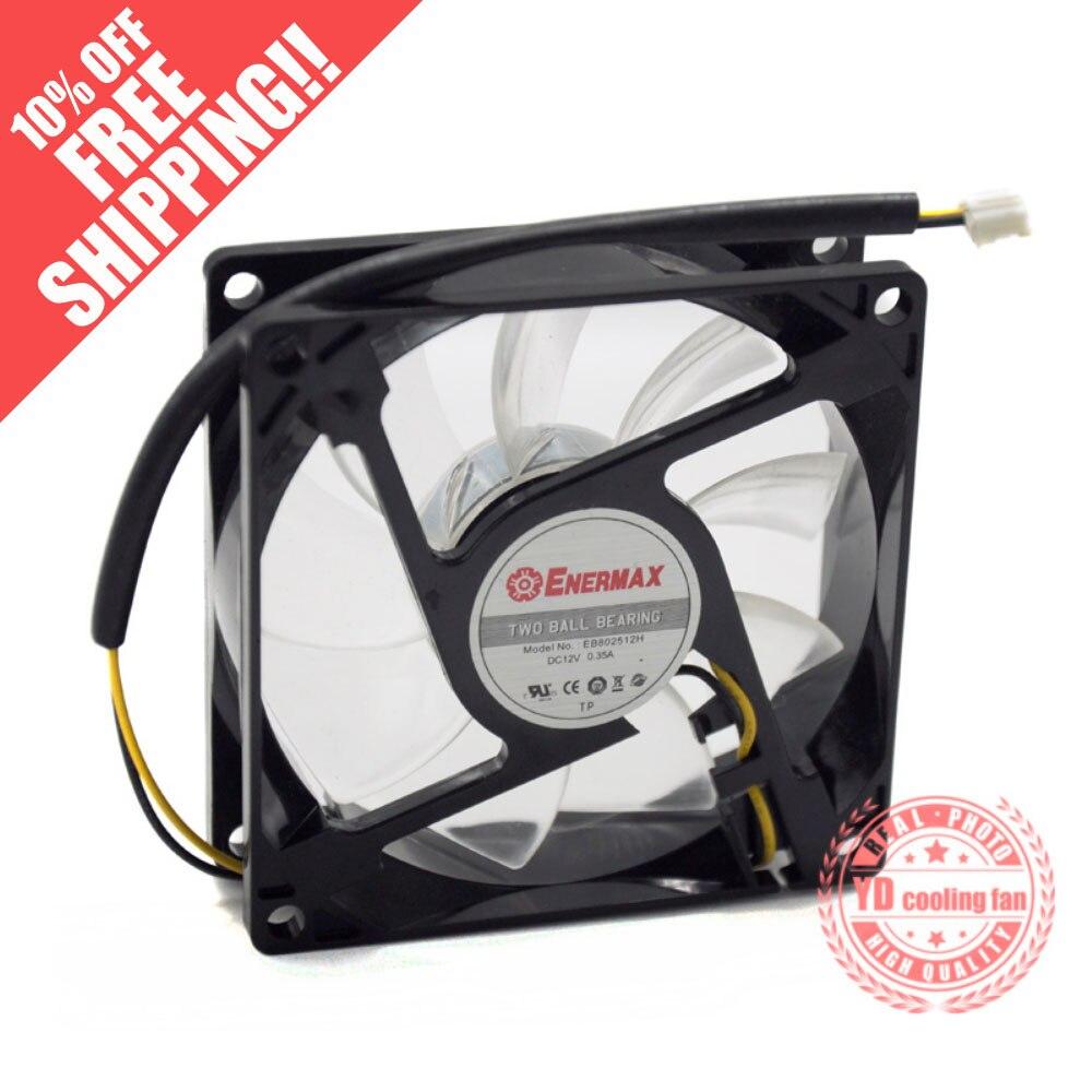 Новинка для ENERMAX EB802512H 8025 12В 0.35A 8 см шарикоподшипник охлаждающий вентилятор