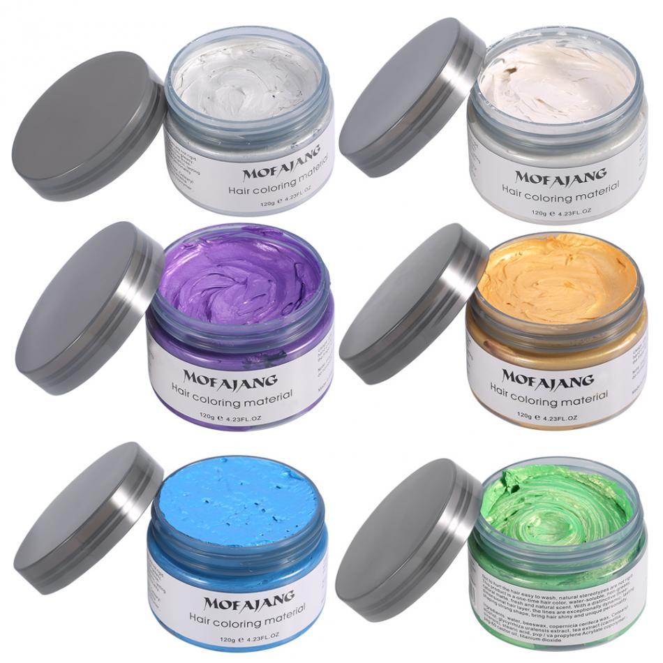 120 г воск для окрашивания волос Promades Silver Ash серый фиолетовый Временная Краска для волос красящий воск гель грязевой воск для укладки волос