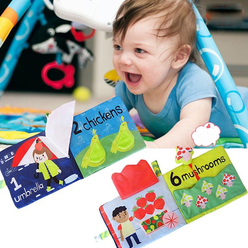 Sonajeros móviles para bebés con bonito libro Digital de frutas y animales,...