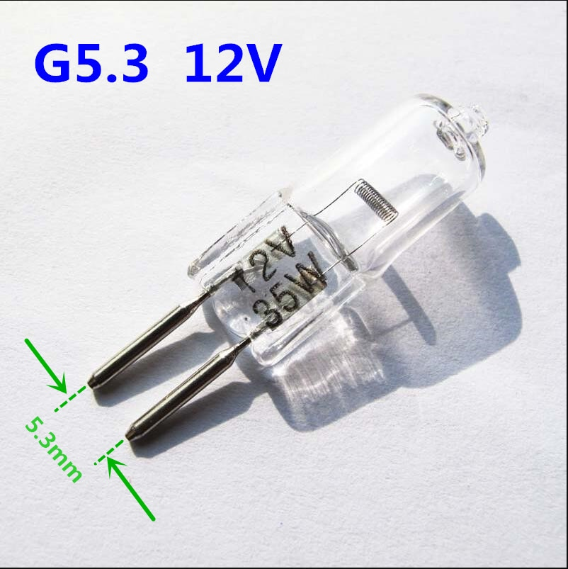 5PCS G5.3 12V halogen bulb 12v G5.3 35w 50w Aroma lamp bulb Mechanical working light bulb crystal chandelier bulb G5.3 12V 75W