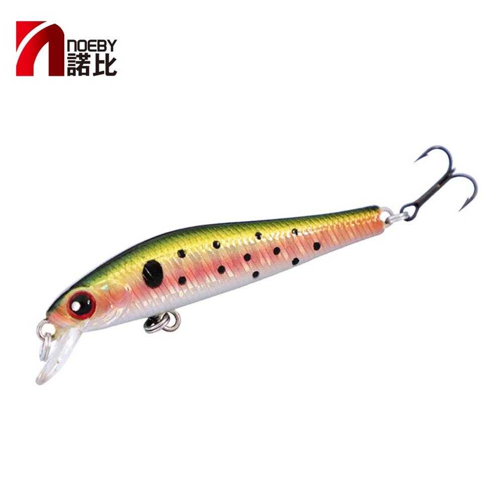 Noeby nbl9263 minnow isca de pesca wobblers isca artificial 50mm afundando 70mm suspensão para água doce bass pike
