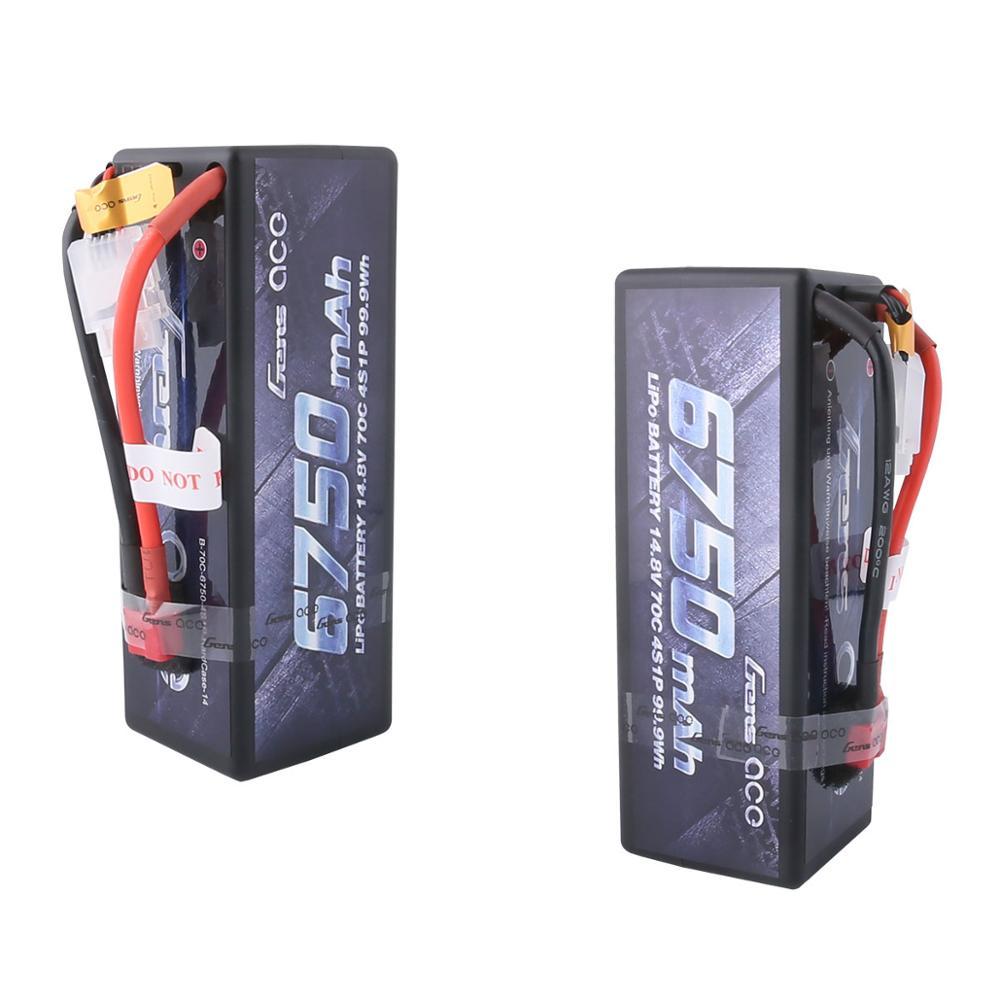 Gens ace 4S 6750mAh Lipo 14.8V Battery Pack 70C XT90 T Plug for Traxxas X-maxx 1/8 Car Lipo Batteria Quad Drone Boat enlarge