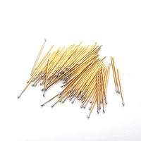 gold color testing circuit board pm75 d length 27 8mm round head angle spring test probe copper electrical instrument tool